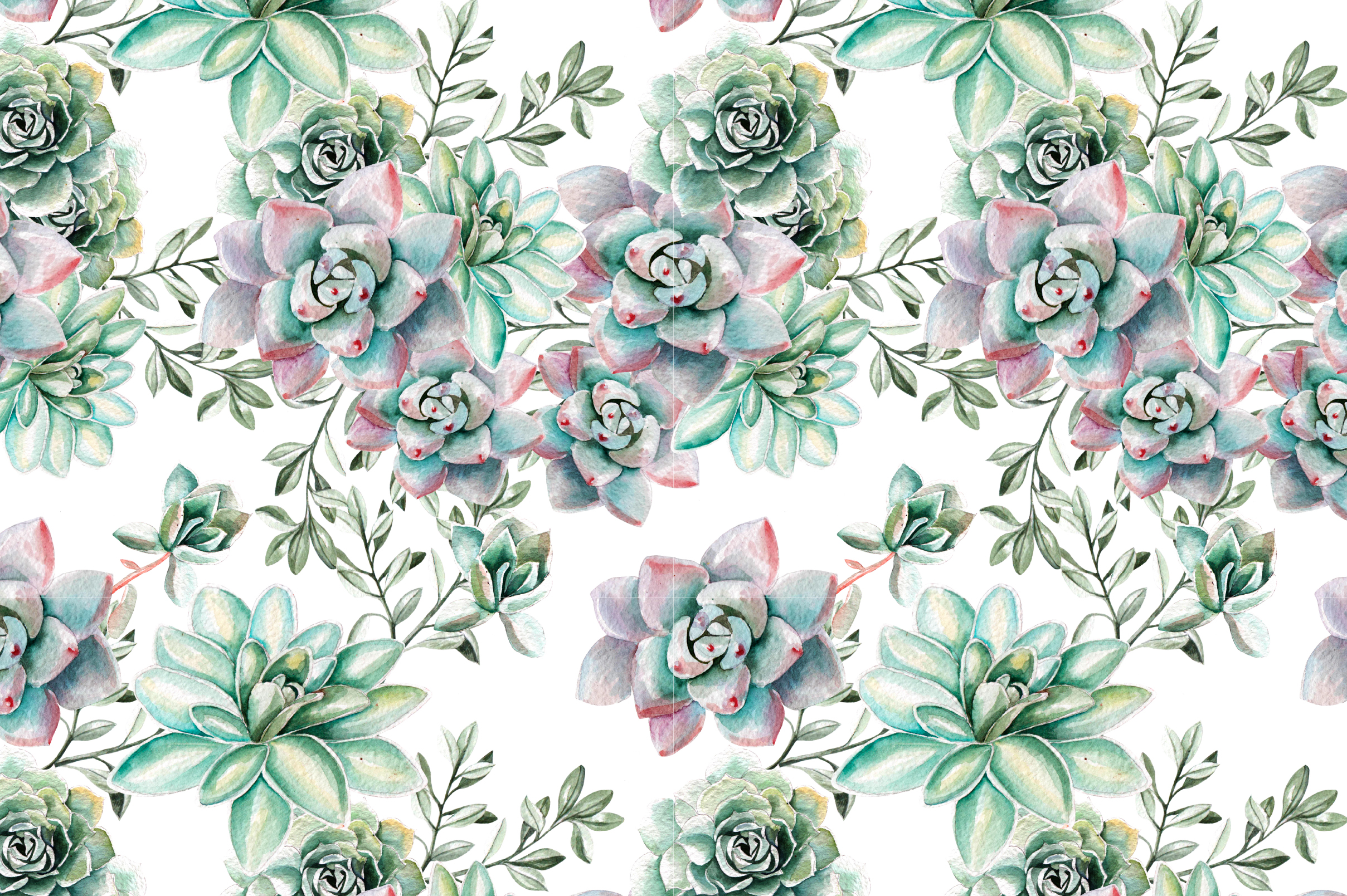 watercolor succulents  u0026 cactuses by kno