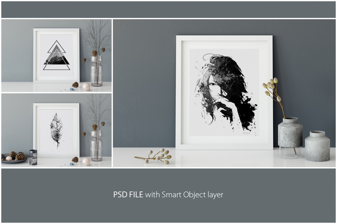 Frames Mockup 8x10 - PACK example image 3