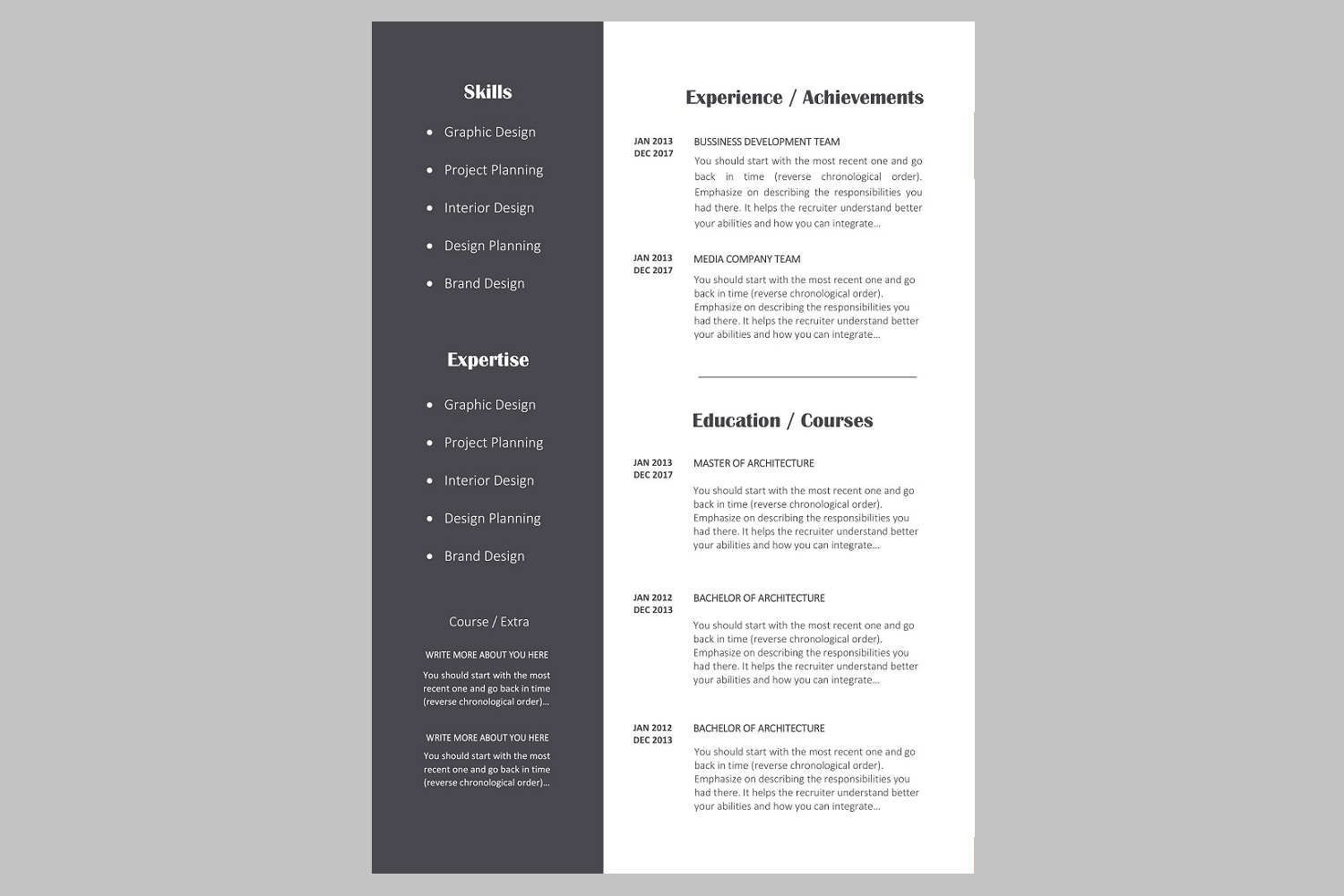 Creative Resume Template  Cv Bundle O  Design Bundles