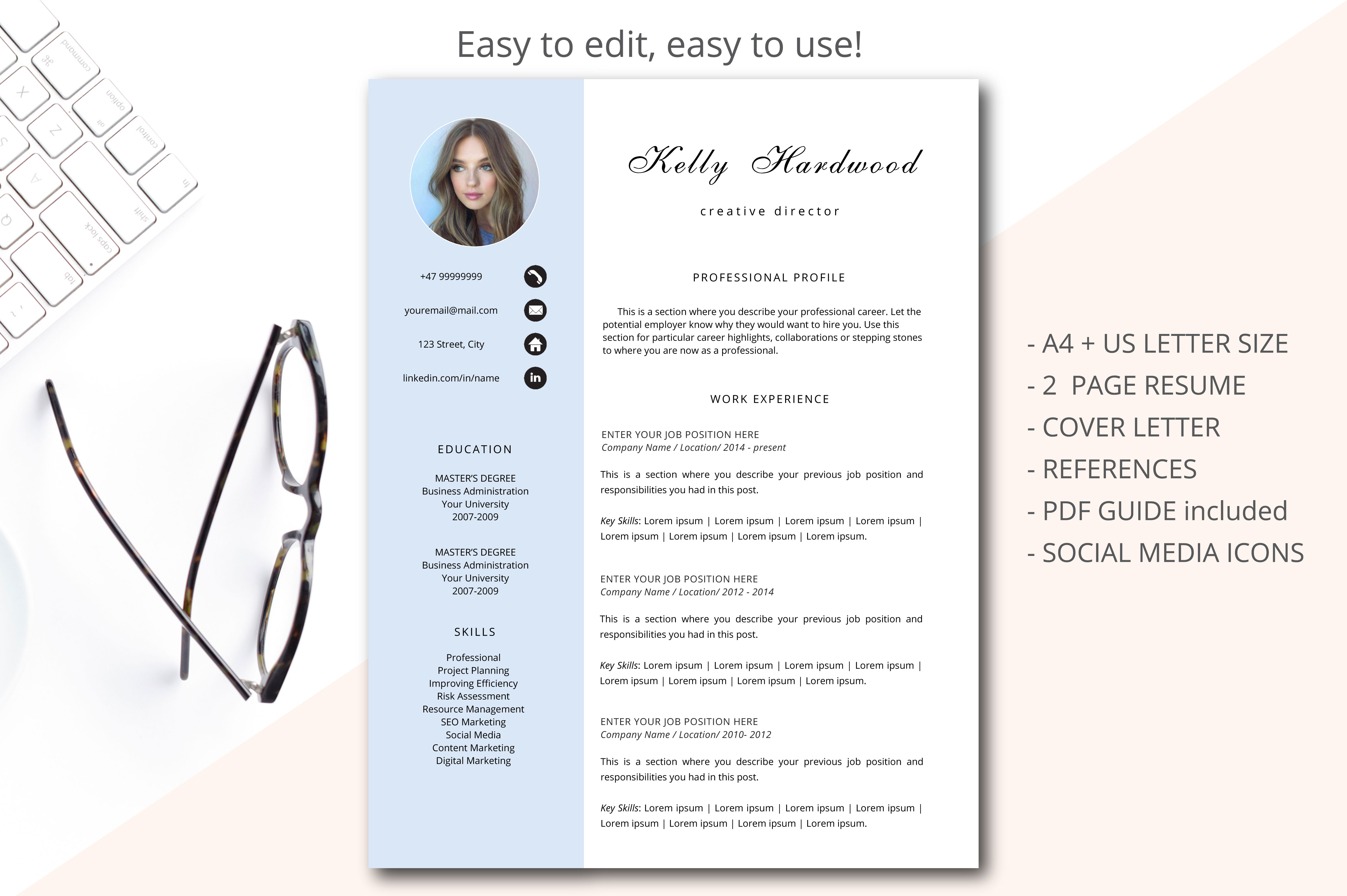creative resume template  printable res