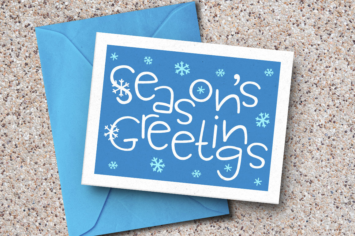 Scamper: holiday greeting card mockup