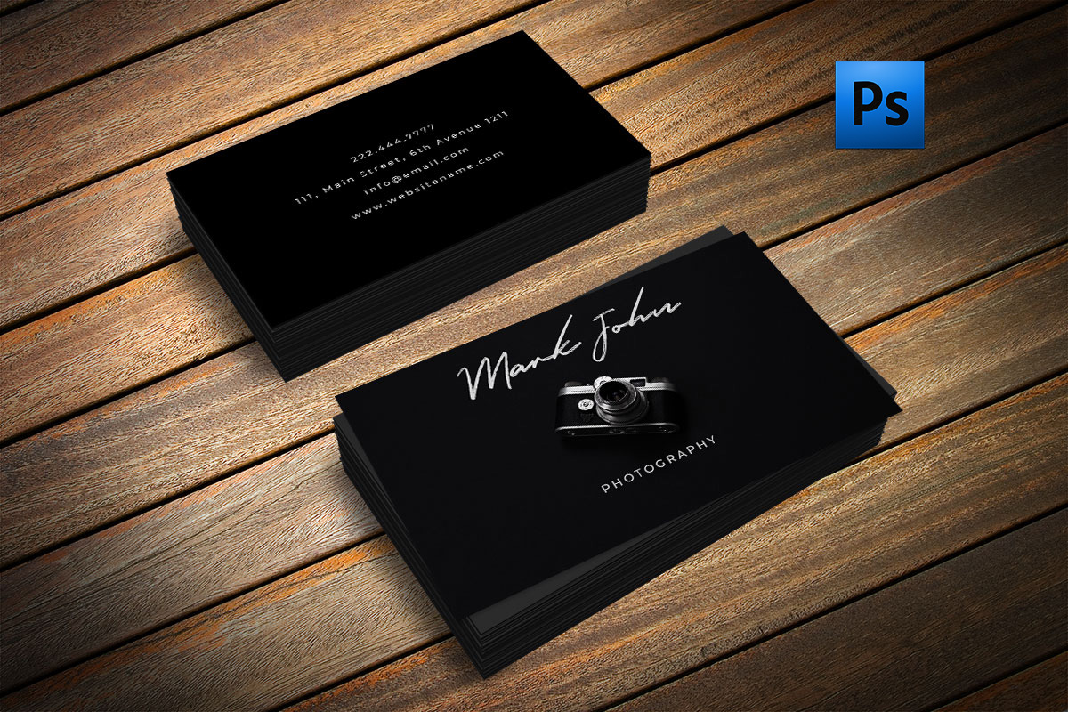 Beautiful photography business card by | Design Bundles