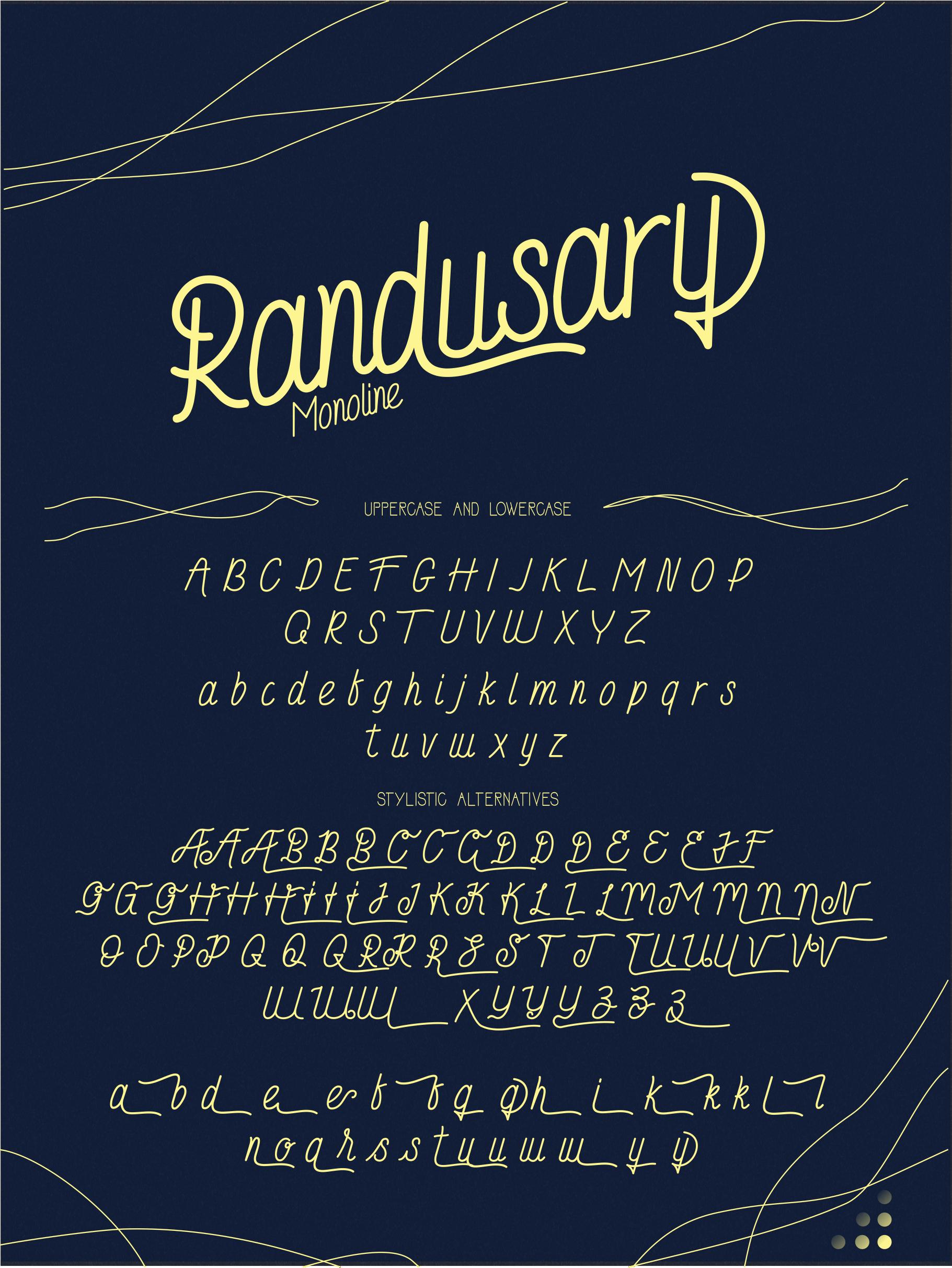 Randusary 3 Font example image 5