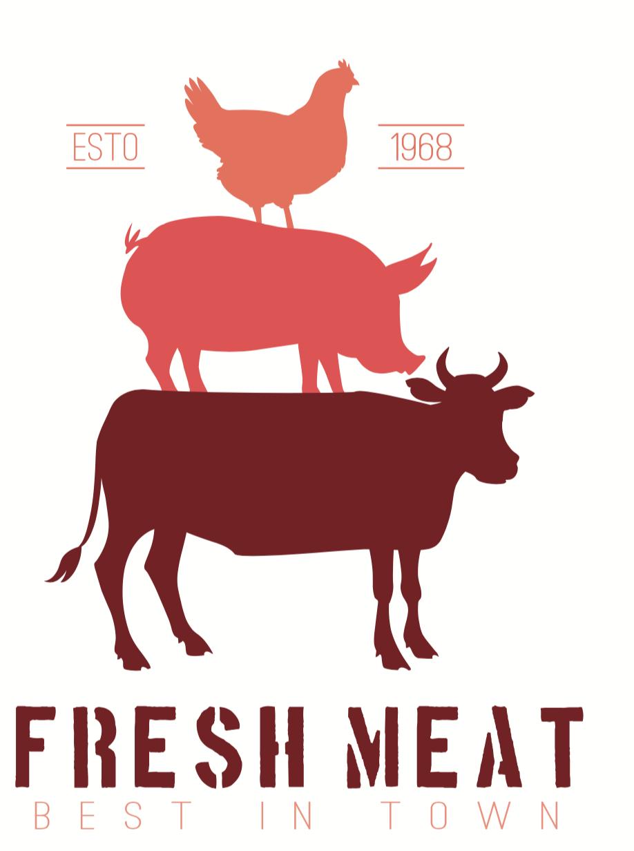 butcher shop logo pack bonus color lo design bundles rh designbundles net butcher colonial times butcher colorado springs