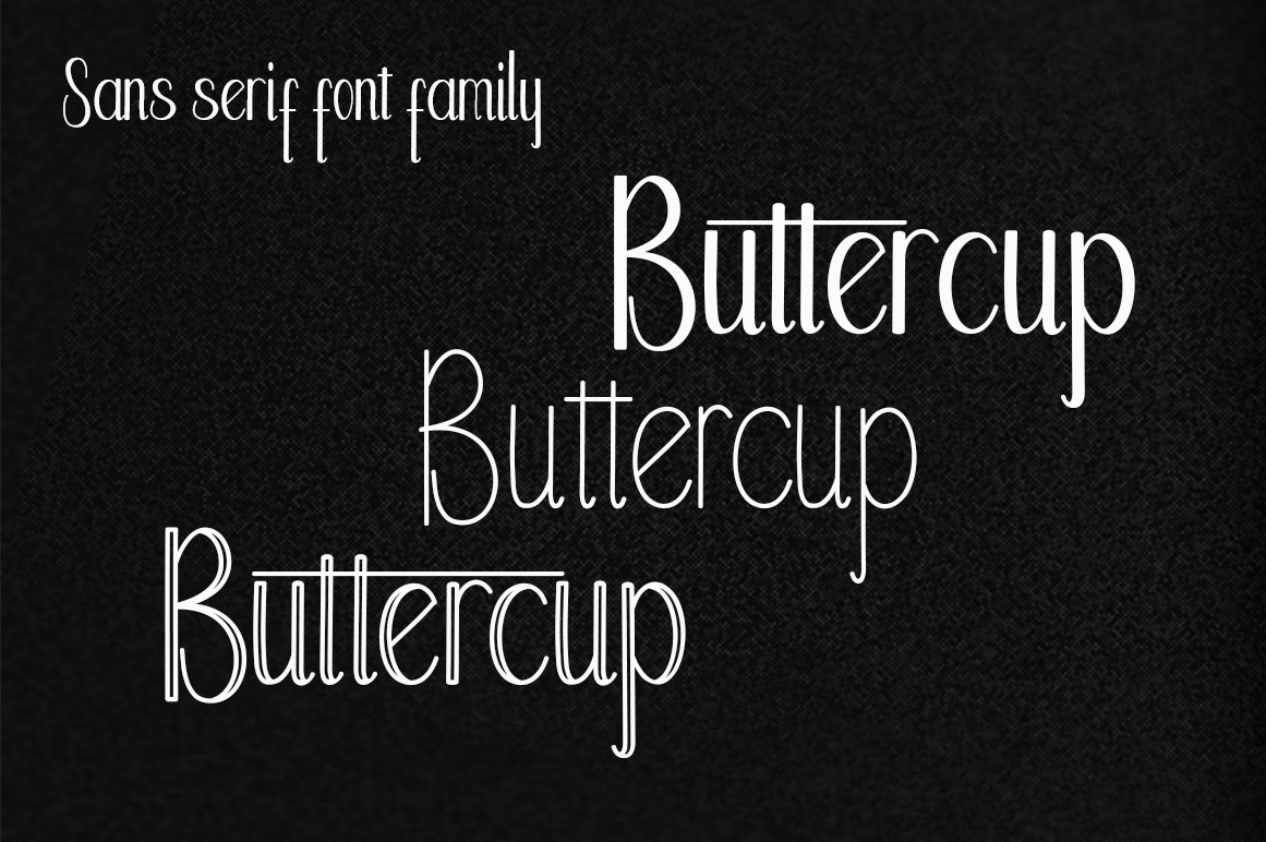 Buttercup Font Family example image 2