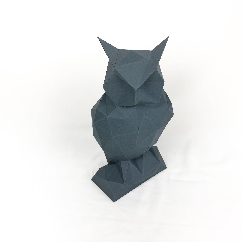 Night owl papercraft owl paper owl a design bundles night owl papercraft owl paper owl animal trophy loft decor home jeuxipadfo Image collections