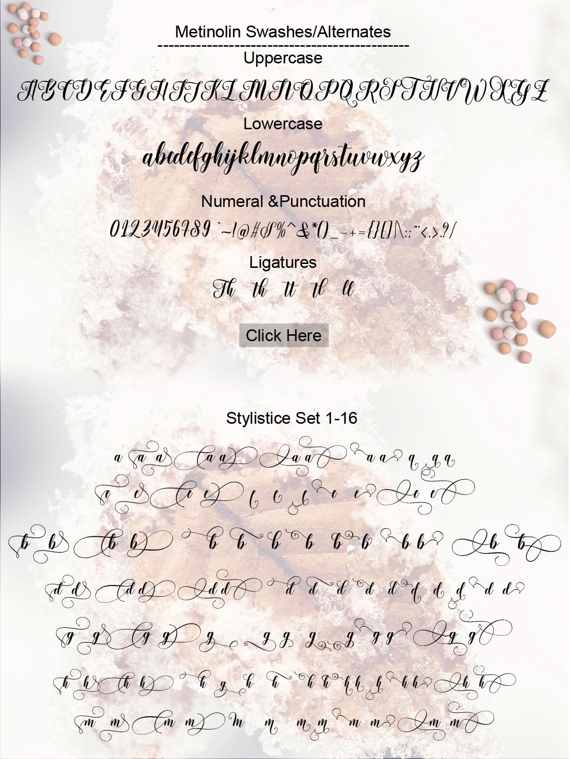 Metinoline Script example image 14