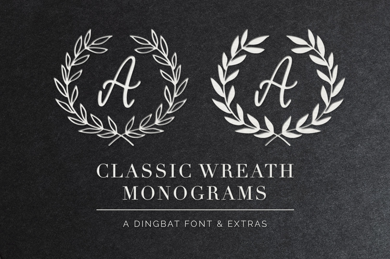 Classic Wreath Monograms Dingbat Font example image 1