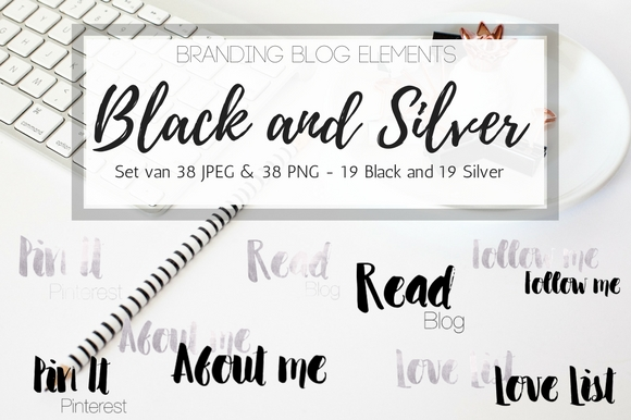 Blog elements - Black, Gold and silver example image 2