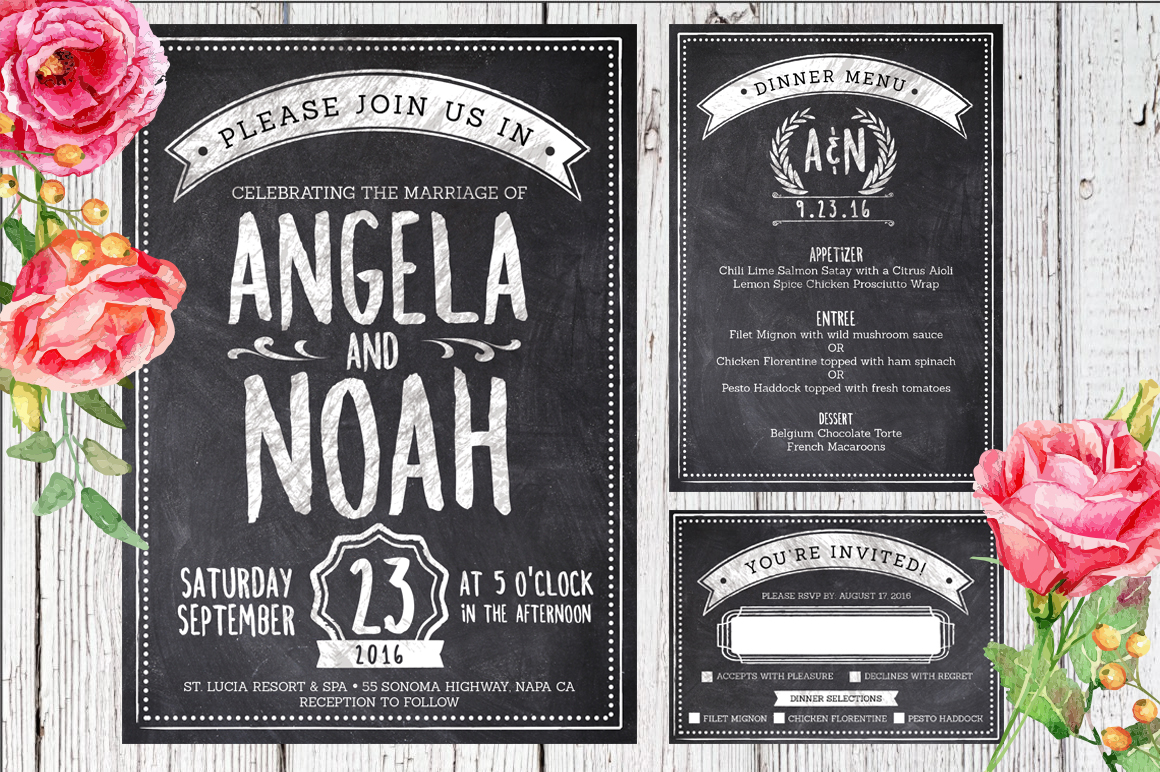 Massive Wedding Invite Bundle Flyer Save the Date Bridal Shower Party 60% Off example image 8