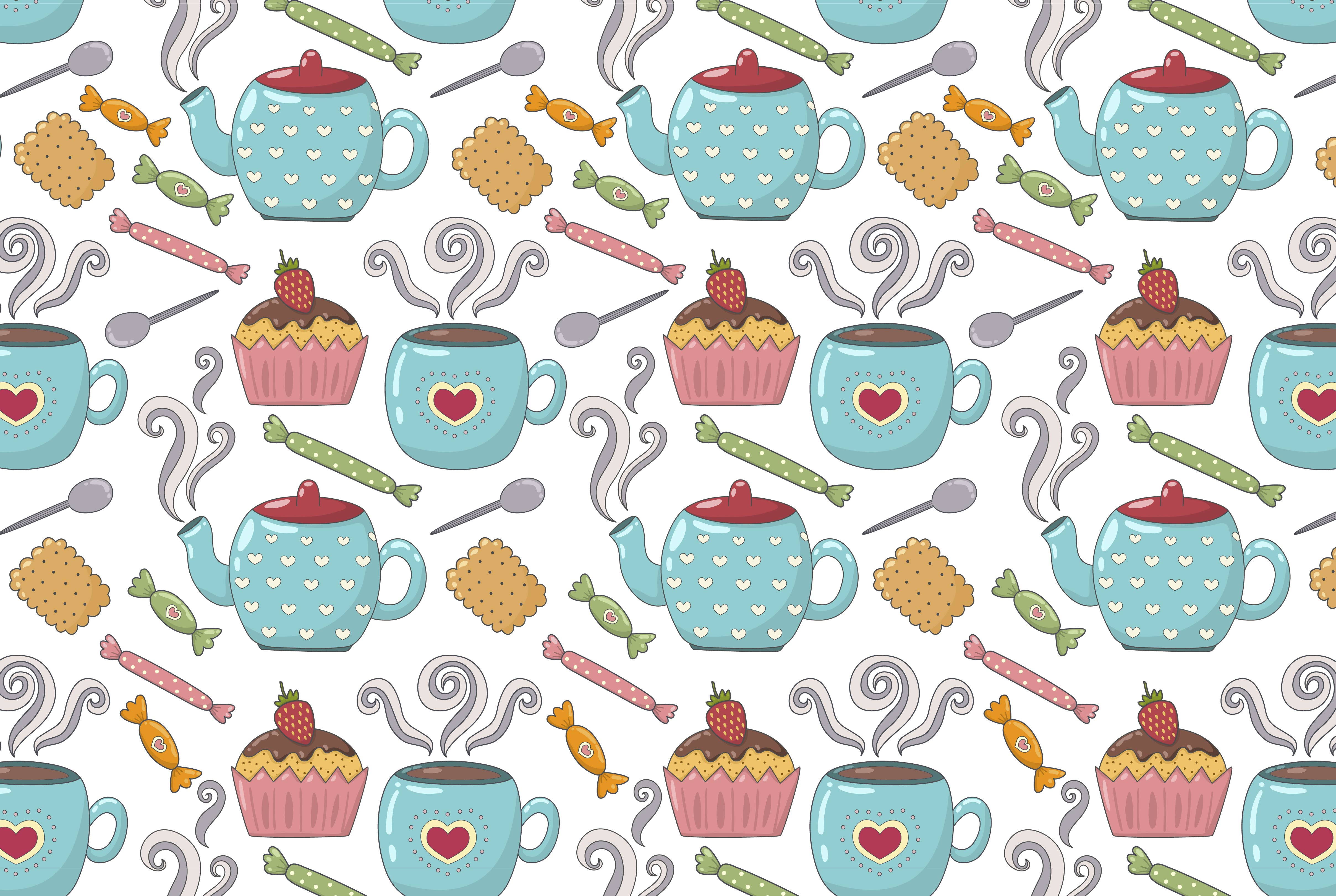 Tea Time: pattern & elements example image 2