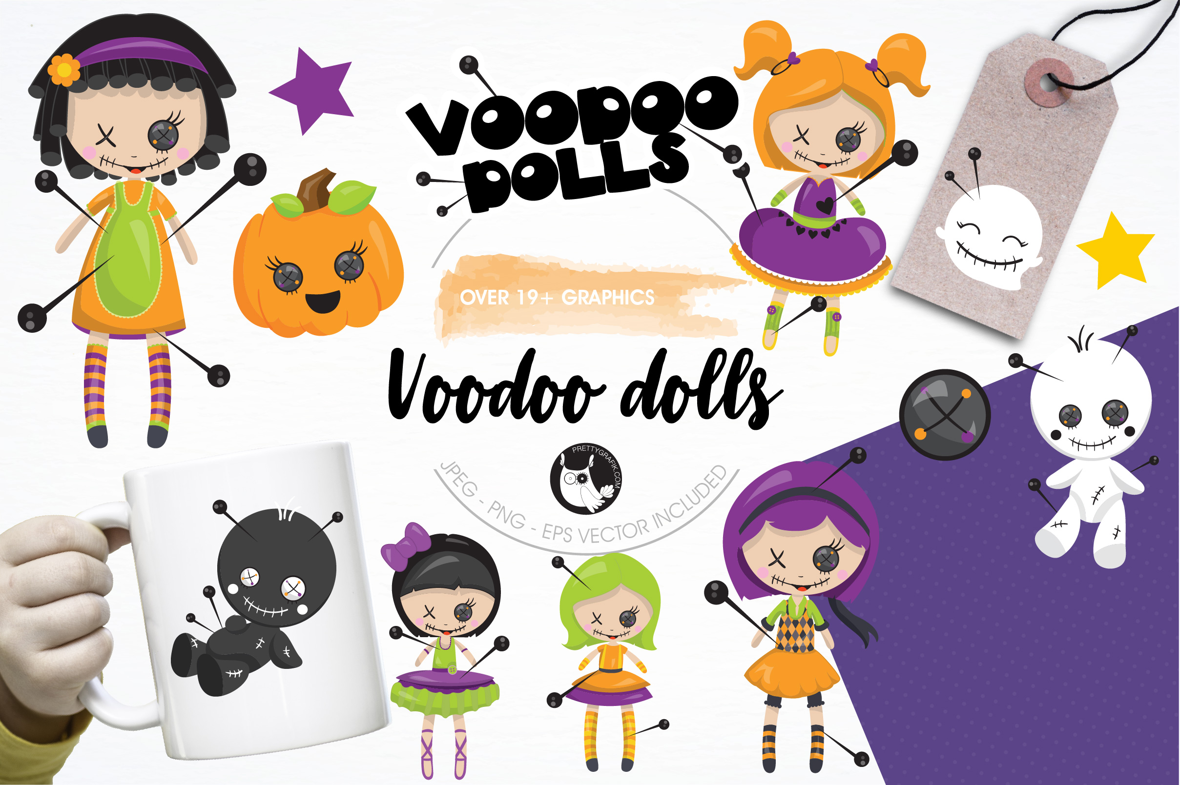 Voodoo dolls graphics and illustrations example image 1