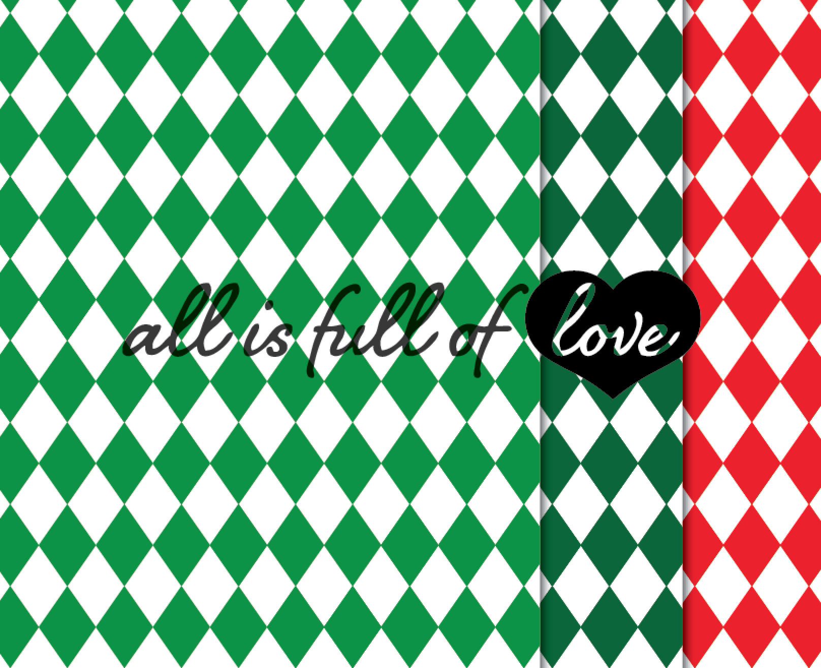 Christmas Digital Paper Pack Xmas Background Graphics in Red and Green example image 2
