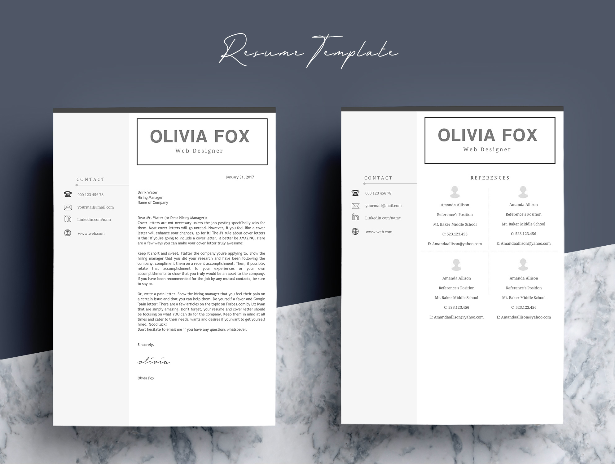 Clean Resume Template  Pages By Protot  Design Bundles