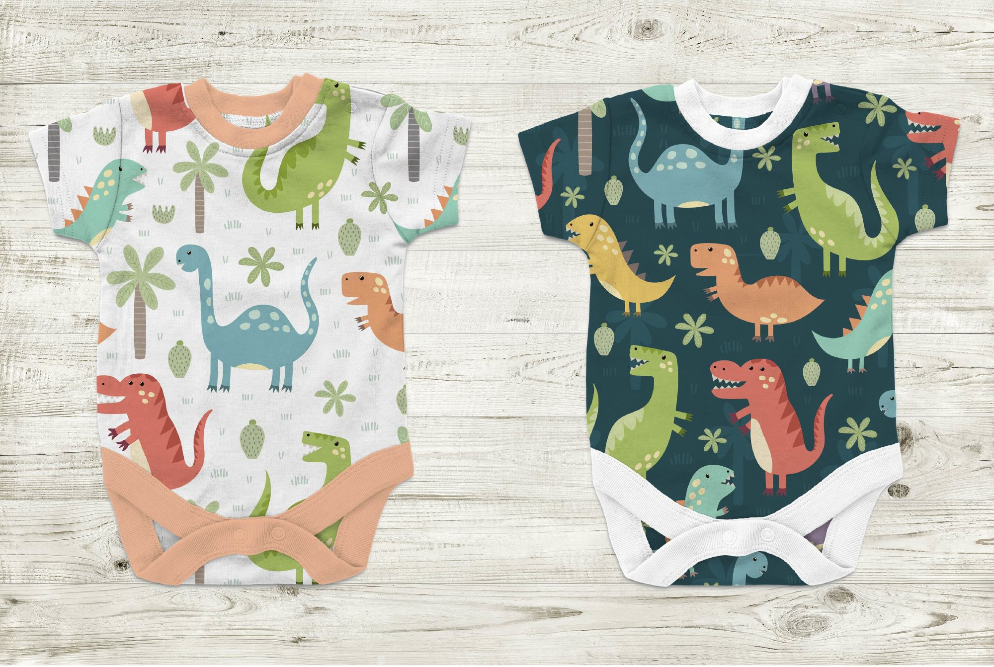 Dino Party: patterns & illusrations example image 5
