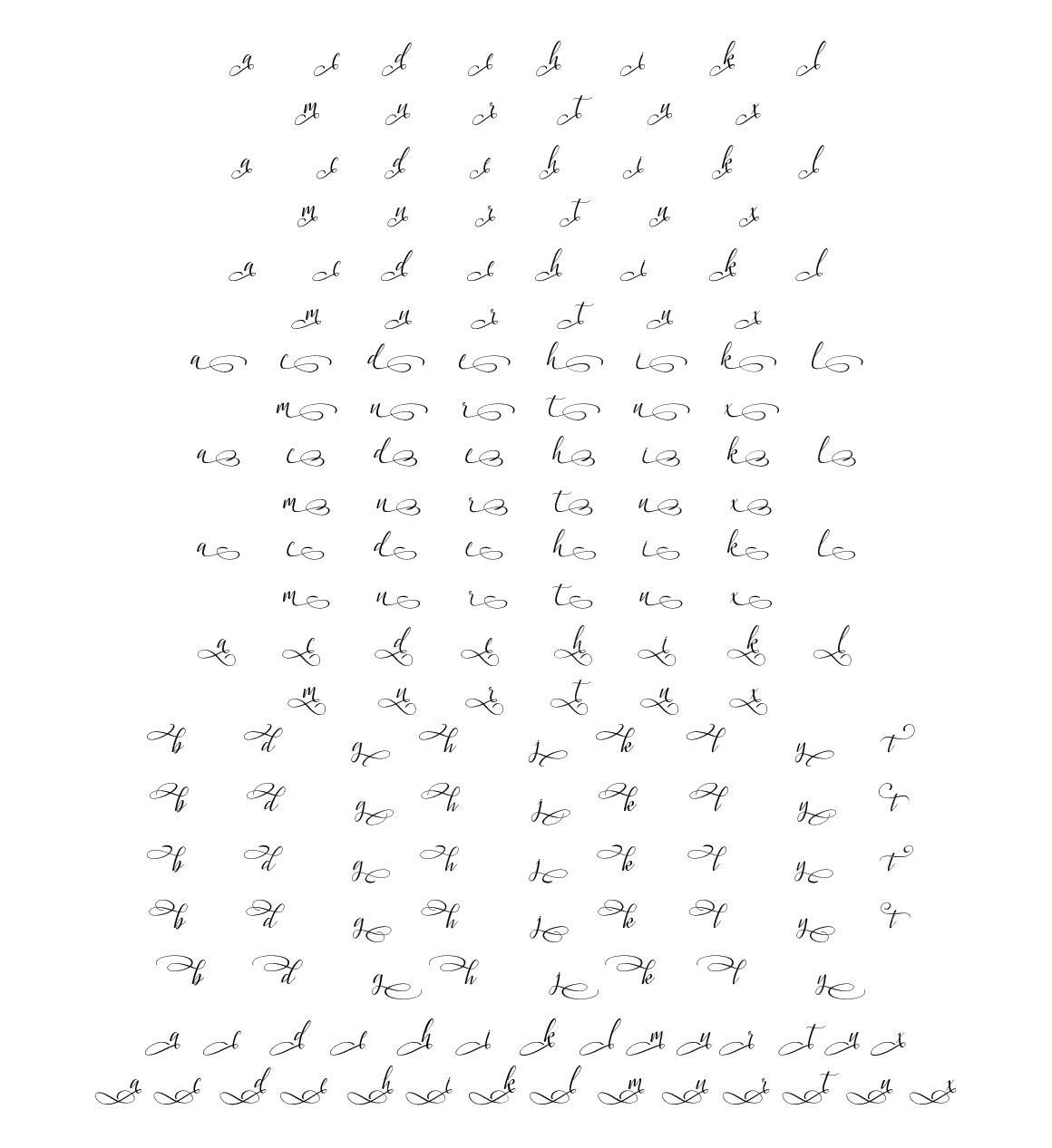 Latasha Font Family - 6 Font example image 13