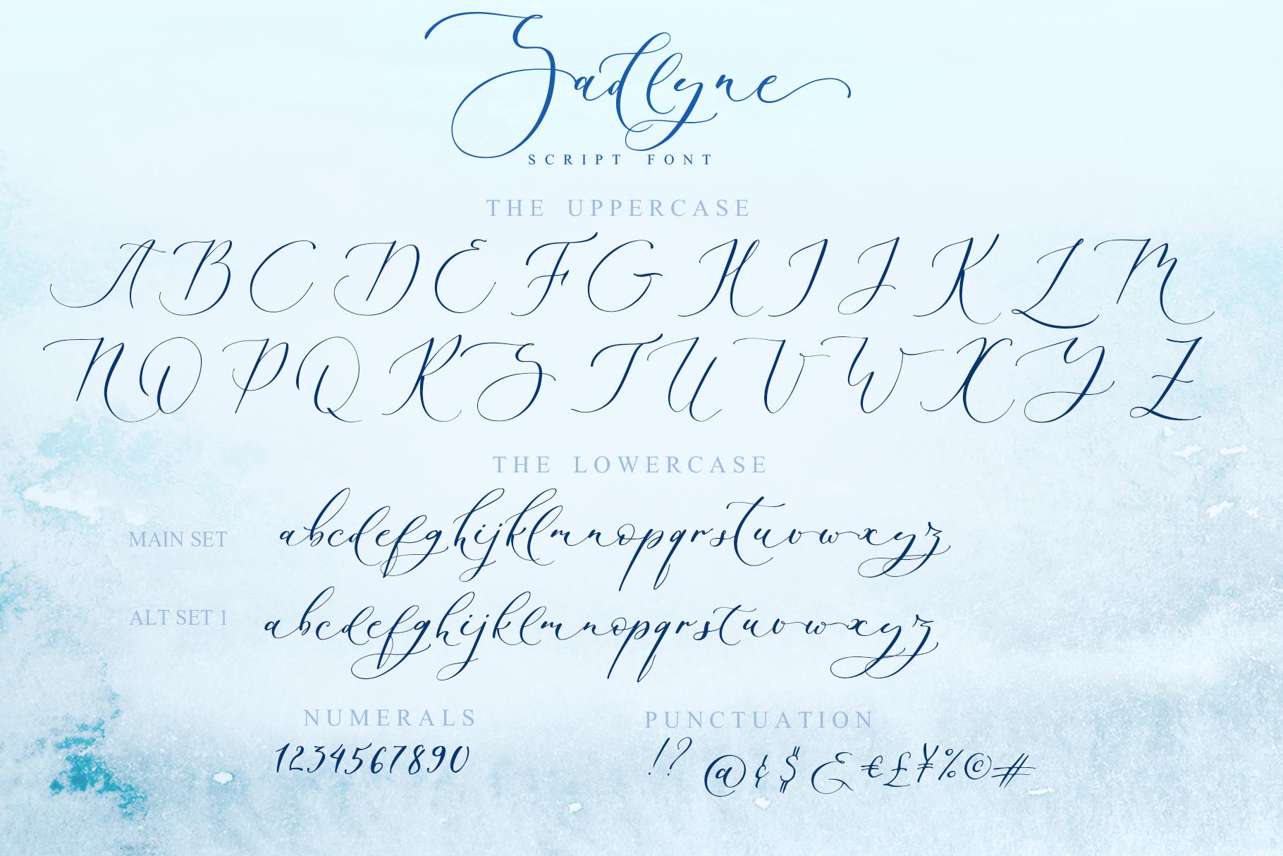 Sadlyne calligraphic font & extras example image 14