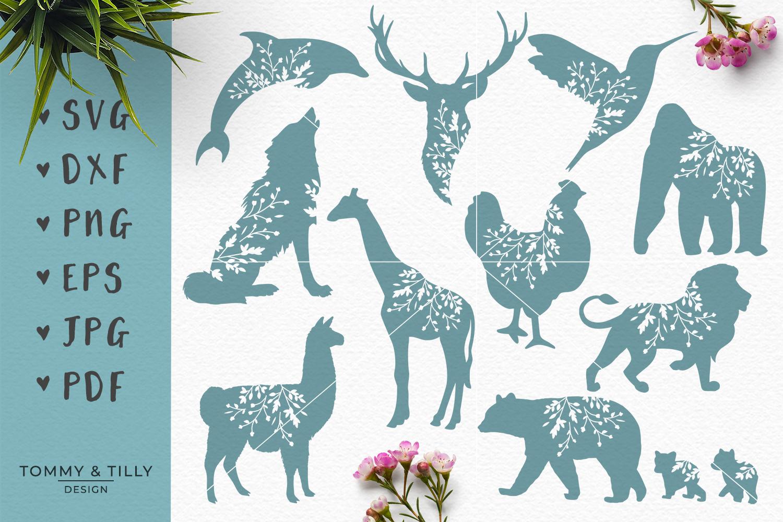 Animal Silhouettes Mega Bundle - SVG DXF PNG EPS JPG PDF Cut example image 3