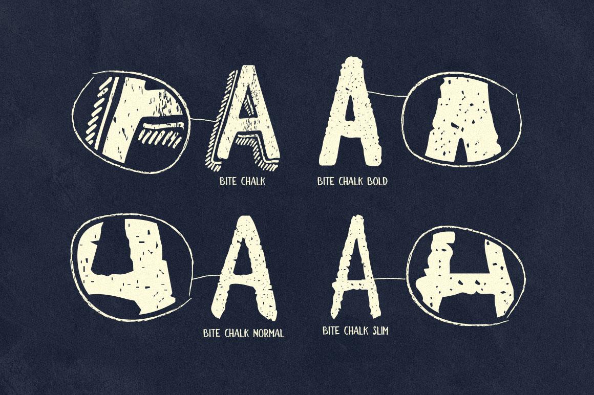 BiteChalk Typeface + extras example image 2