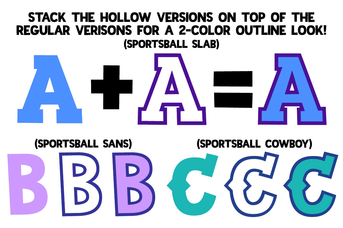 Sportsball: fun font with alternates! example image 3
