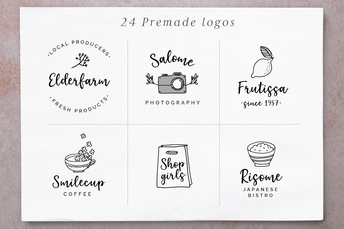 Elderflower script + logos example image 3