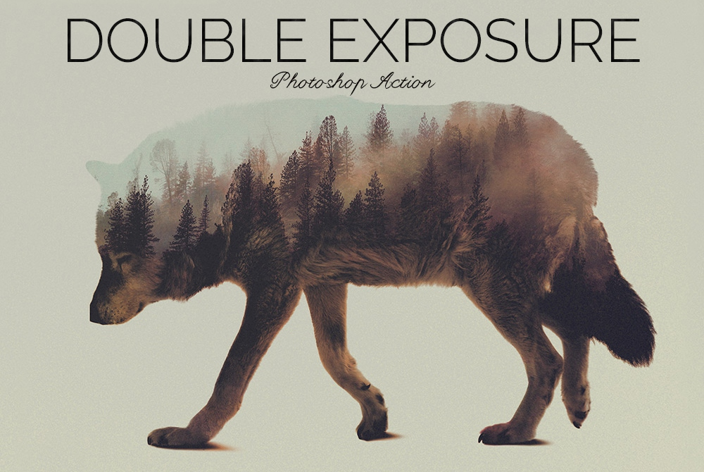 Double Exposure Photoshop Action example image 4