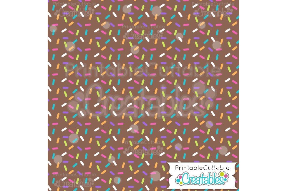 Birthday Sprinkles Chocolate - Digital Paper & Seamless Pattern