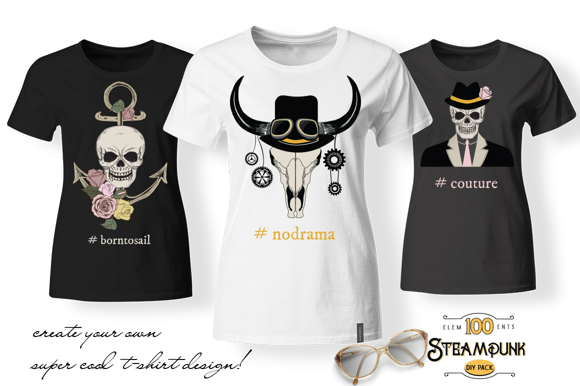 STEAMPUNK Bundle example image 10