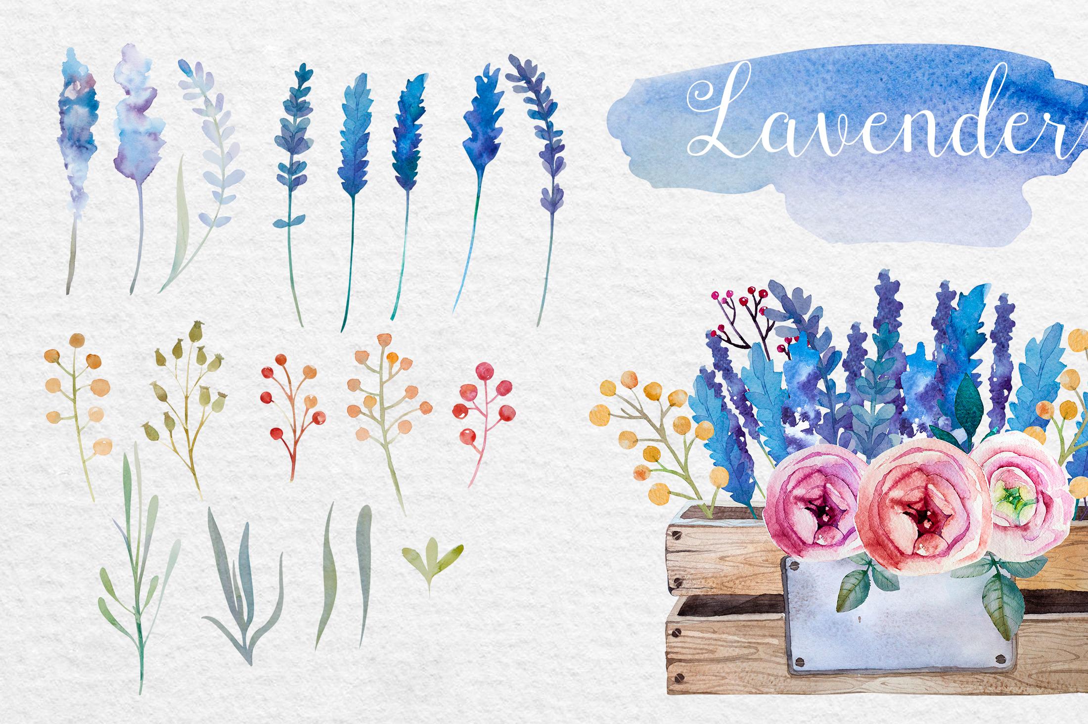 Lavender watercolor DIY example image 3
