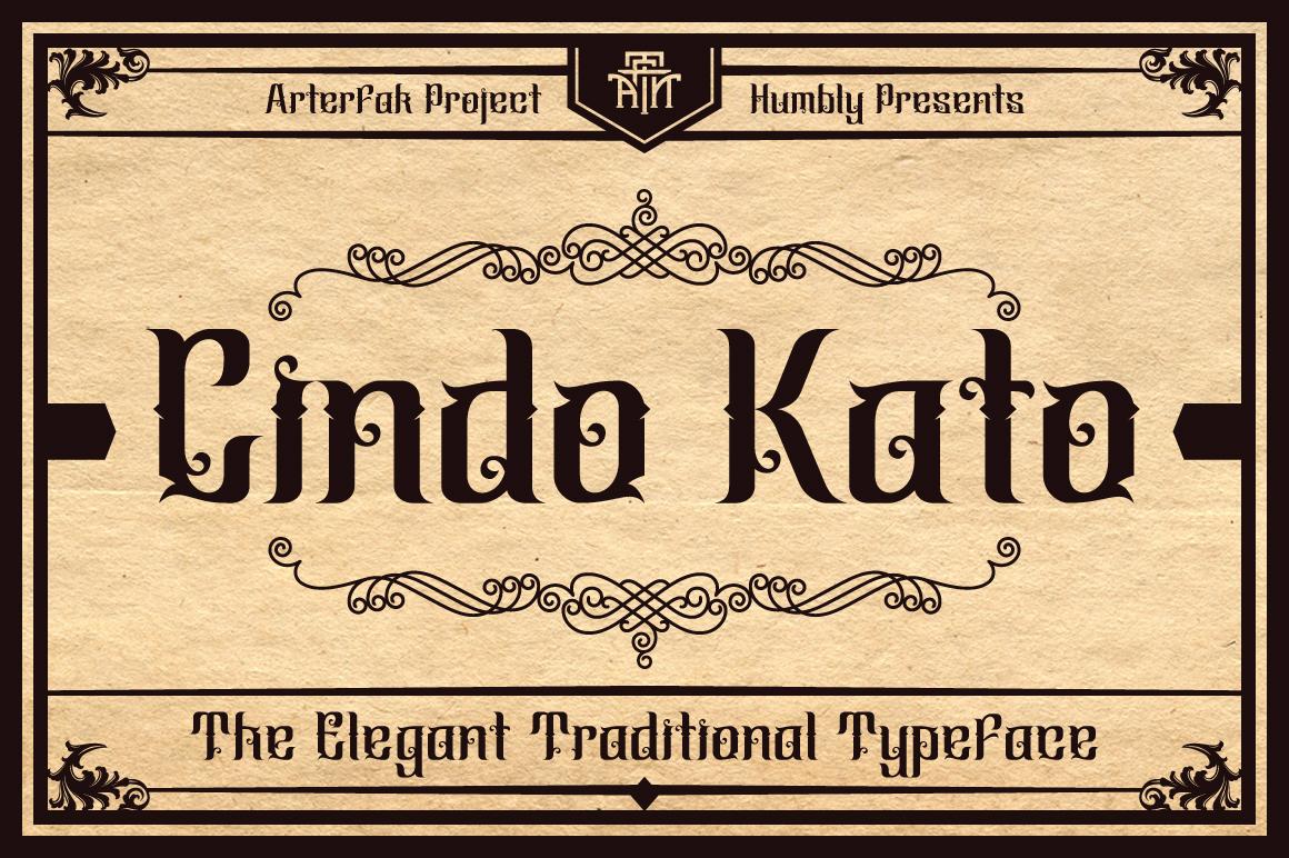 Cindo Kato Typeface example image 1