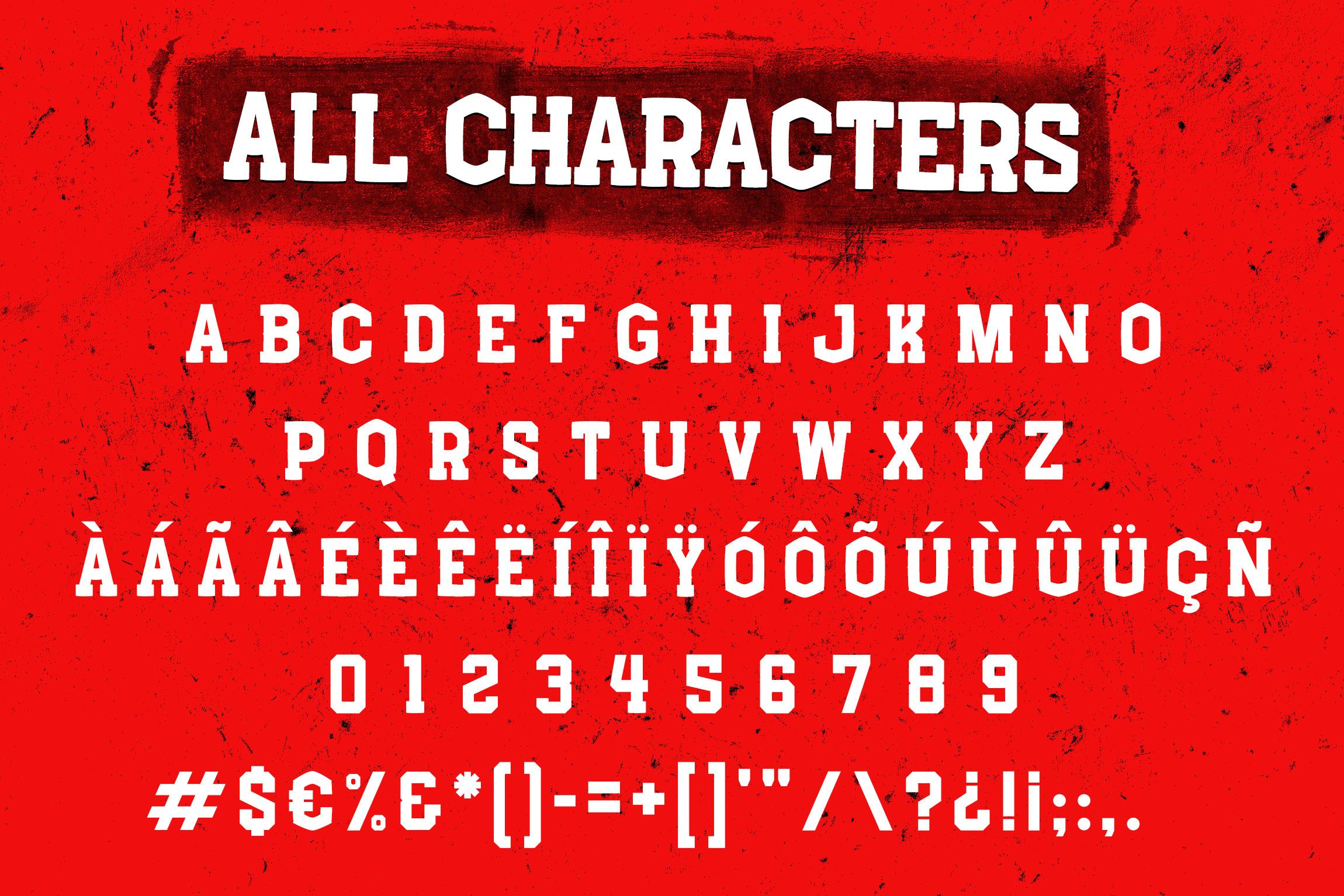 Boxing - Slab Serif Font example image 6