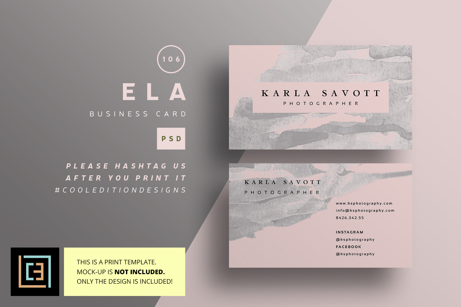 Ela business card bc106 by cooledition design bundles ela business card bc106 example image 1 cheaphphosting Image collections