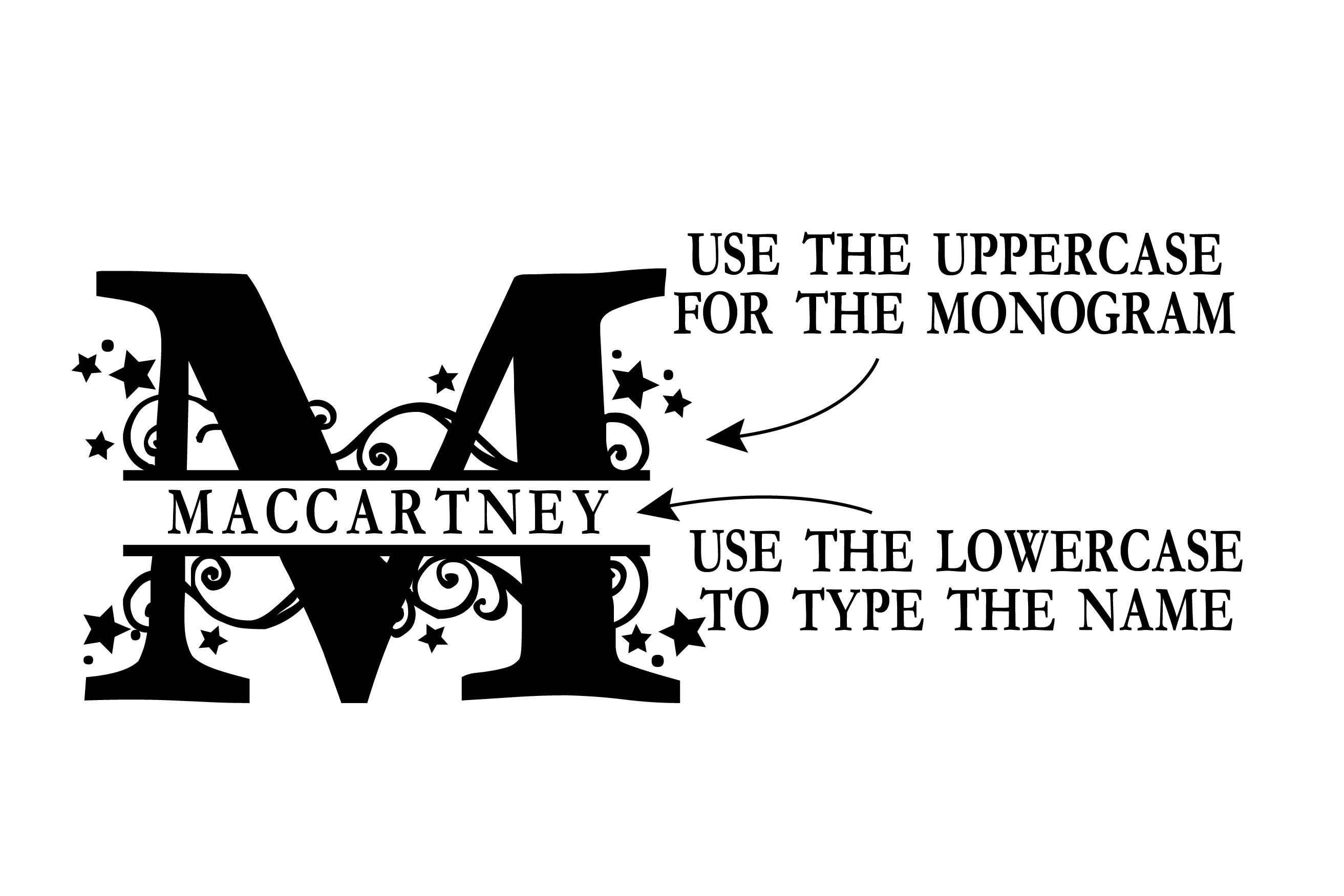 PN Stars & Swirls Monogram Banner Font example image 4