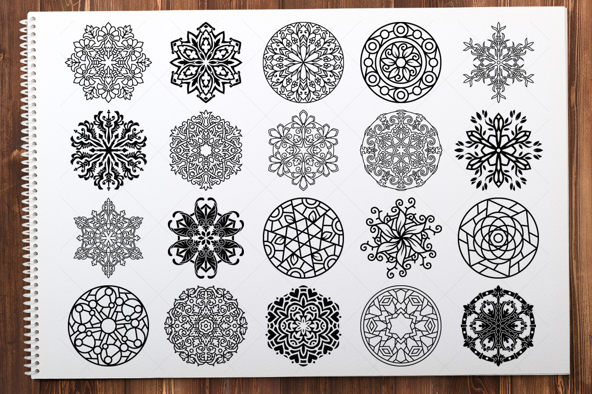 500 Vector Mandala Ornaments example image 2