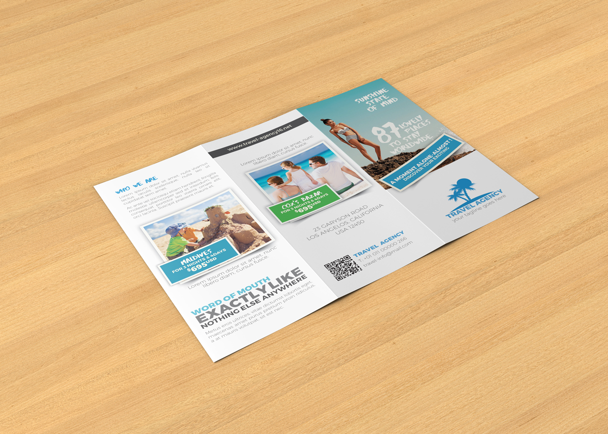 travel agency brochure examples