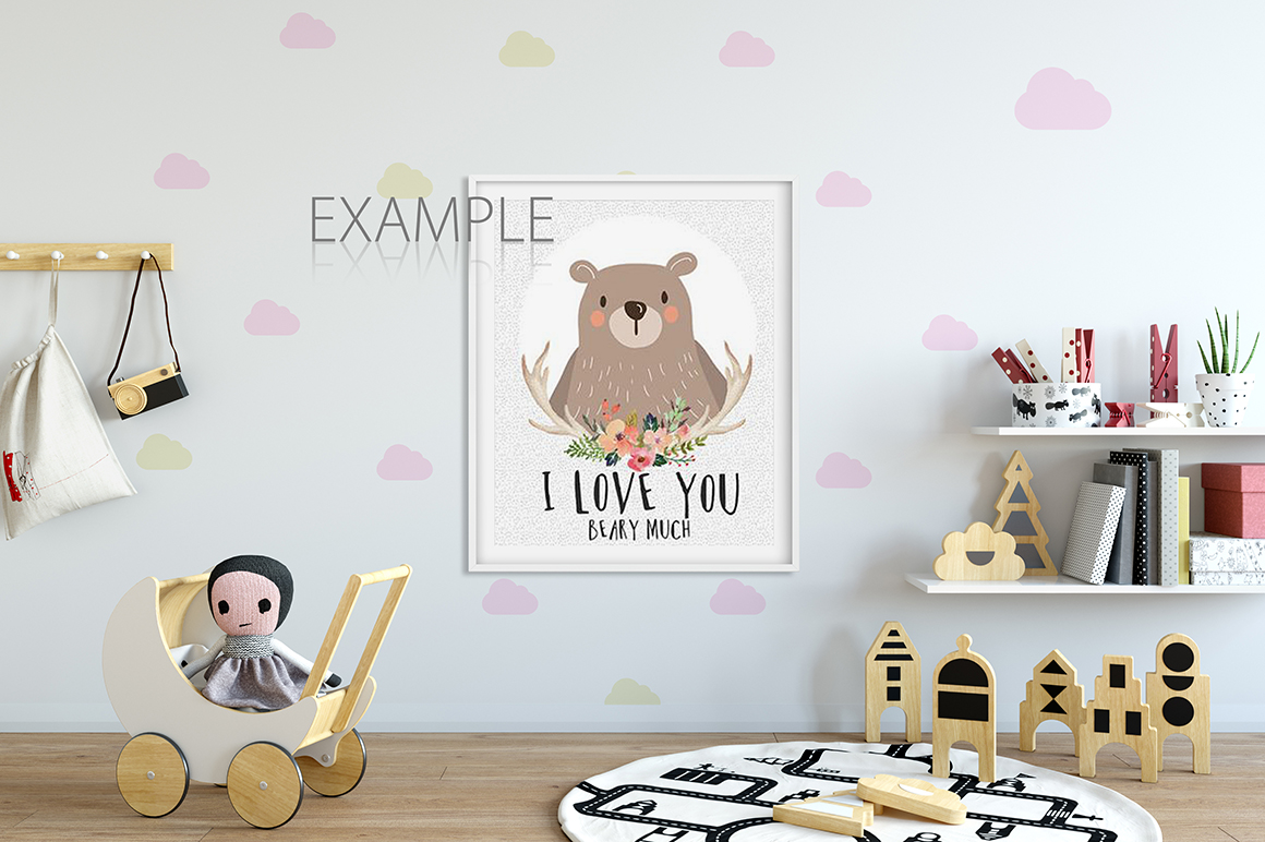 KIDS WALL & FRAMES Mockup Bundle - 2 example image 6