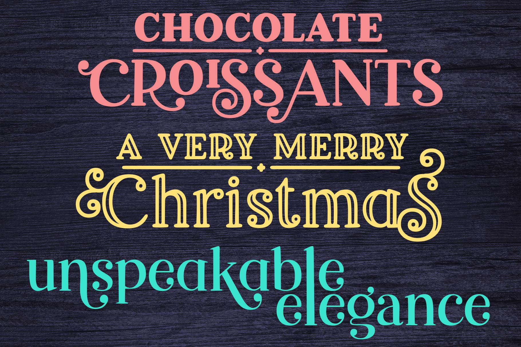 Breakfast Pastry a decorative font family! example image 4