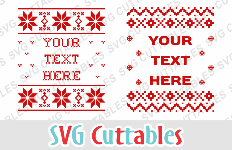 Christmas Sweater designs set of 4 example image 4