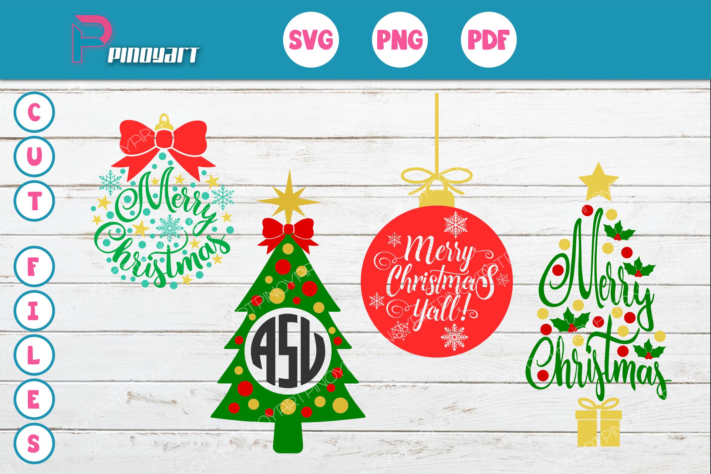 Christmas Svg,Christmas Svg ,Christmas Tree Svg Example Image 1