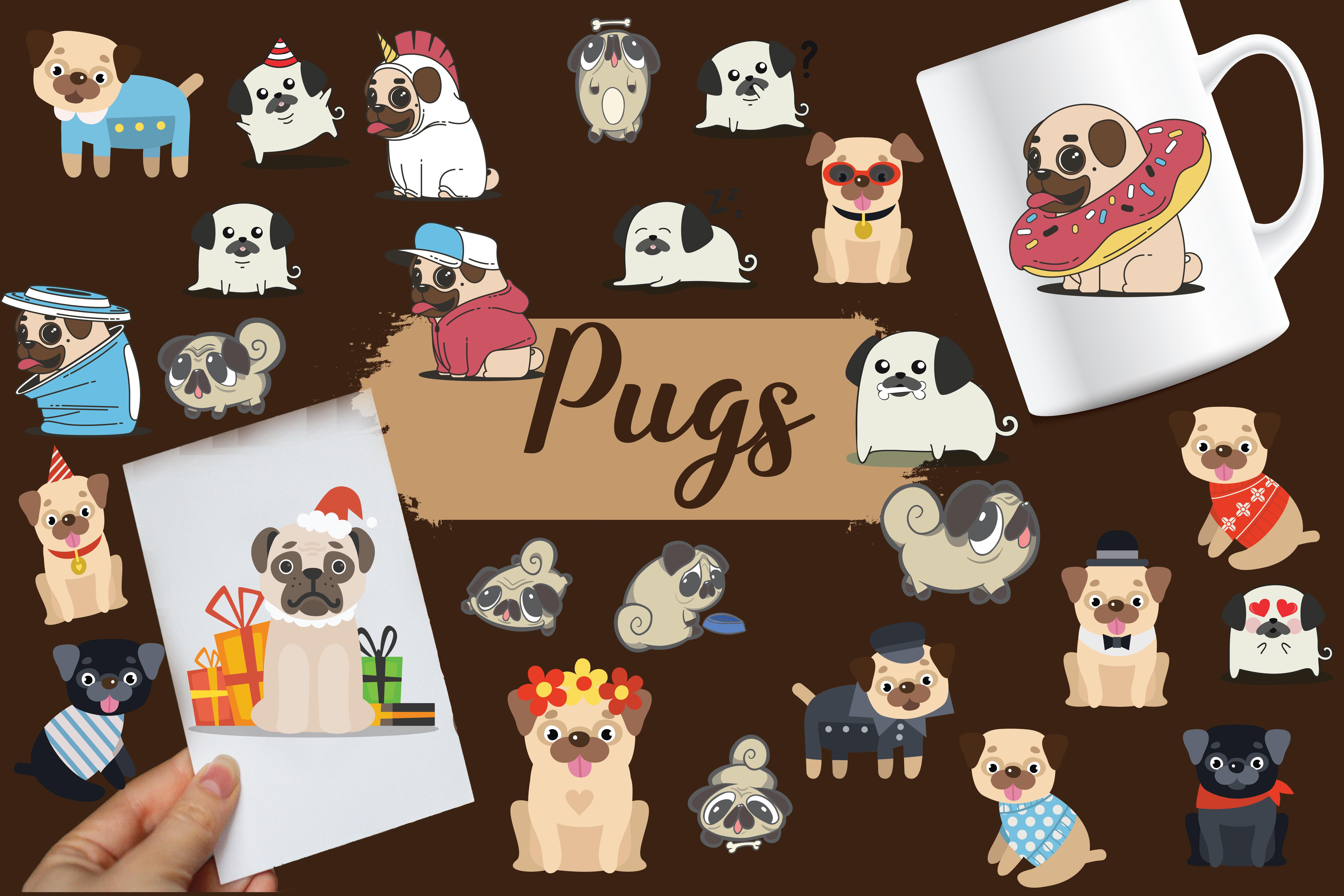 pugs,cute pugs,pug dogs,dogs,pug,animals,forest animals,wild animals,dog example image 1