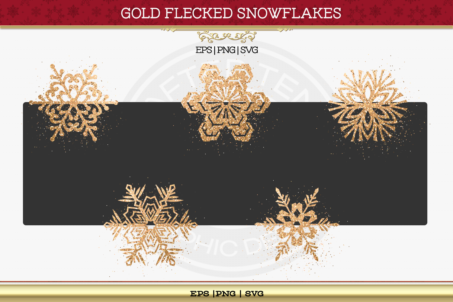 Gold Flaked Snowflakes example image 3
