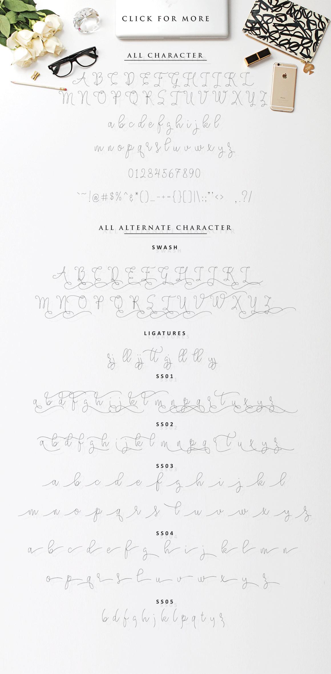 Angelova Monoline Script example image 5