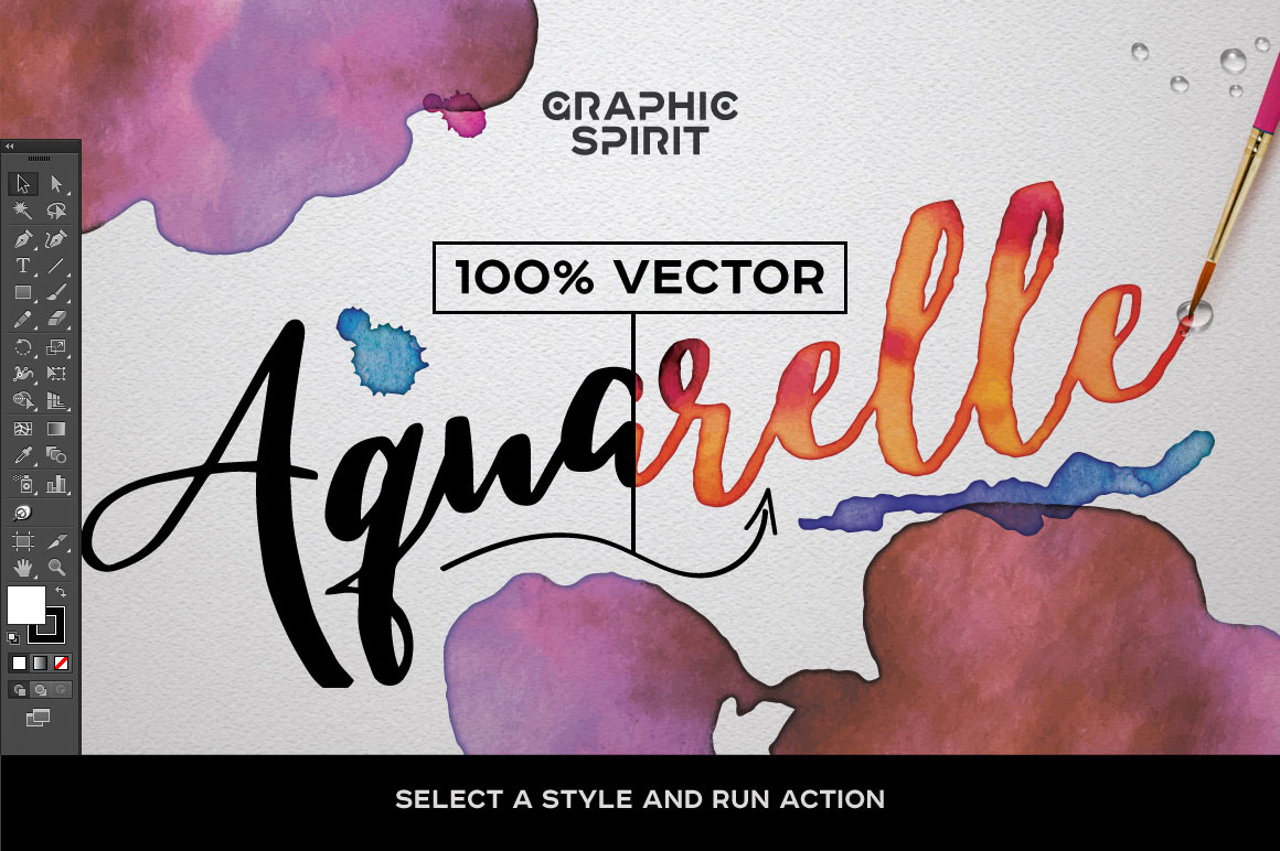 Watercolor Vector Styles Illustrator example image 2