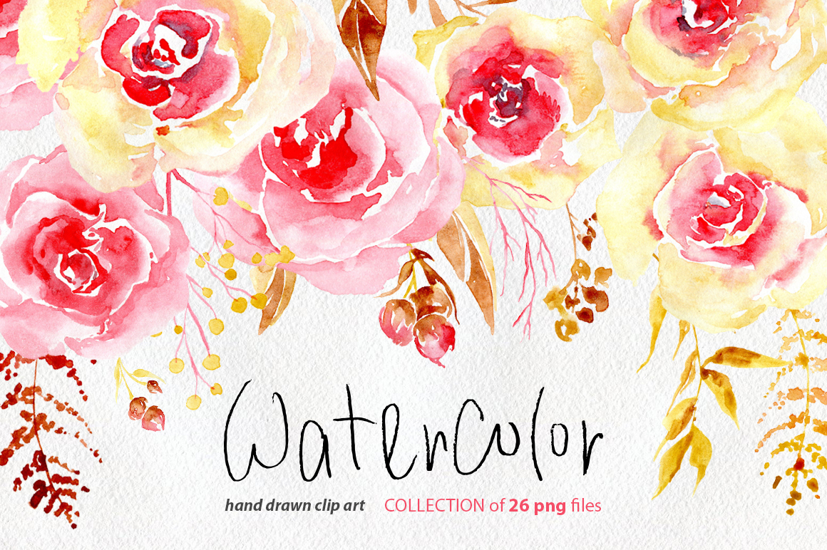 Watercolor flowers yellow pink png by design bundles watercolor flowers yellow pink png example image 1 mightylinksfo
