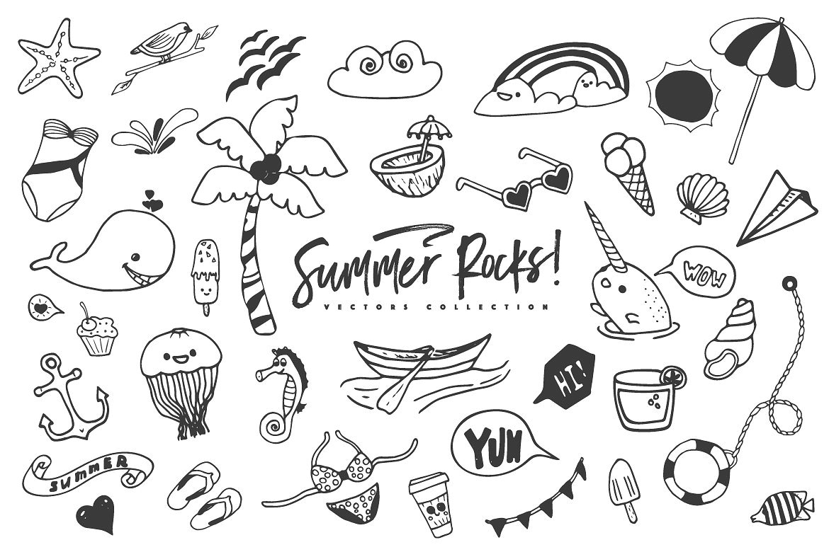 Summer Rocks! Vectors Collection example image 8