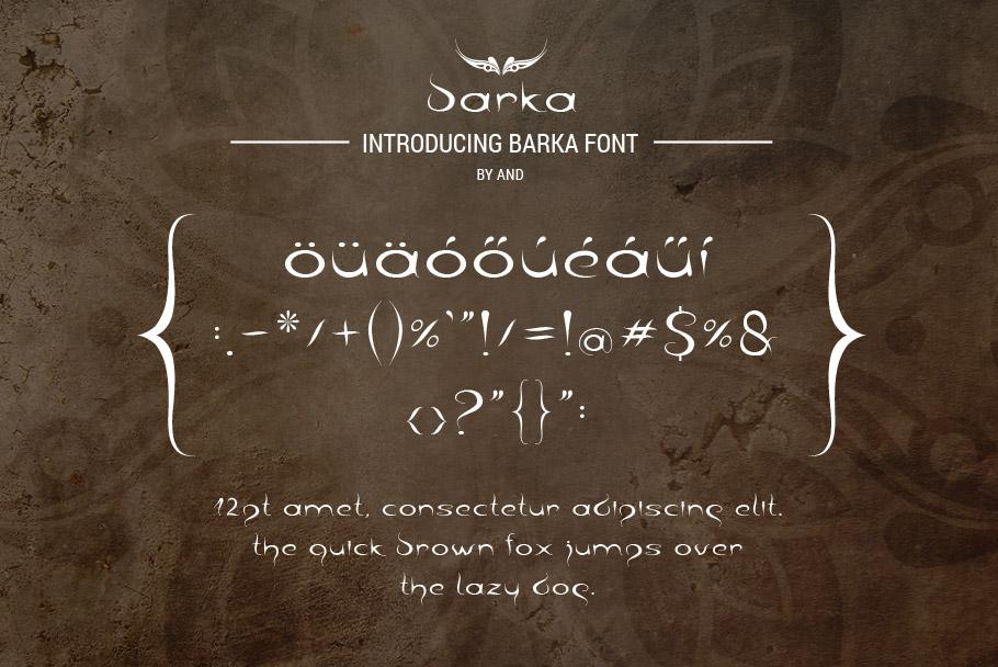 Barka font example image 6