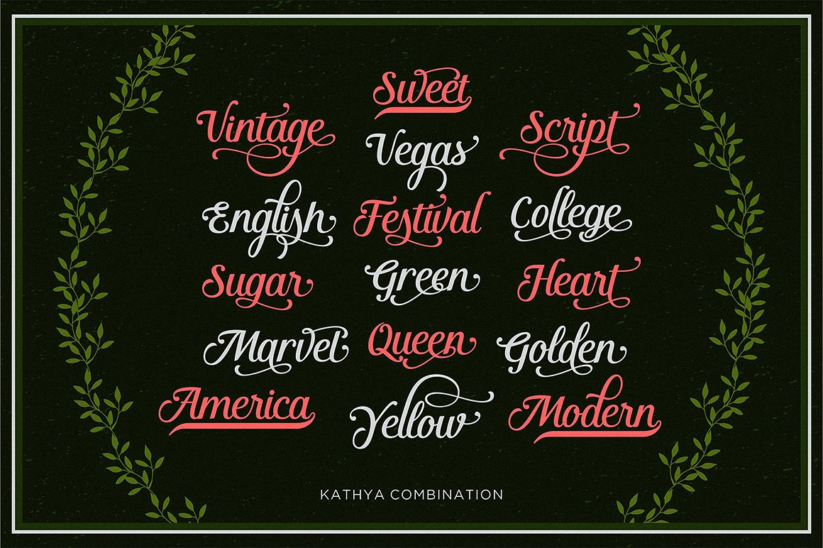 Kathya Script example image 3