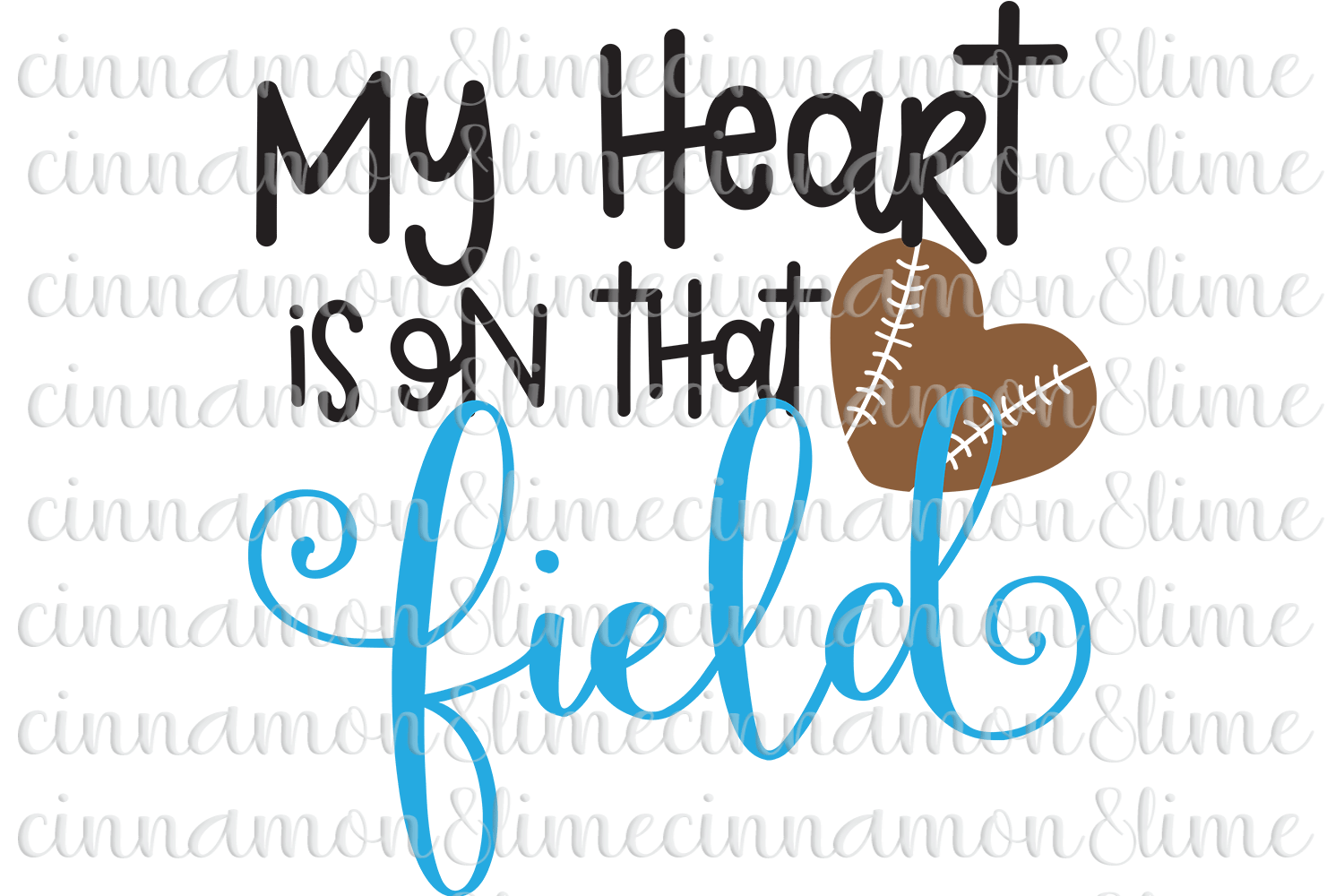 My Heart is on That Field SVG example image 1