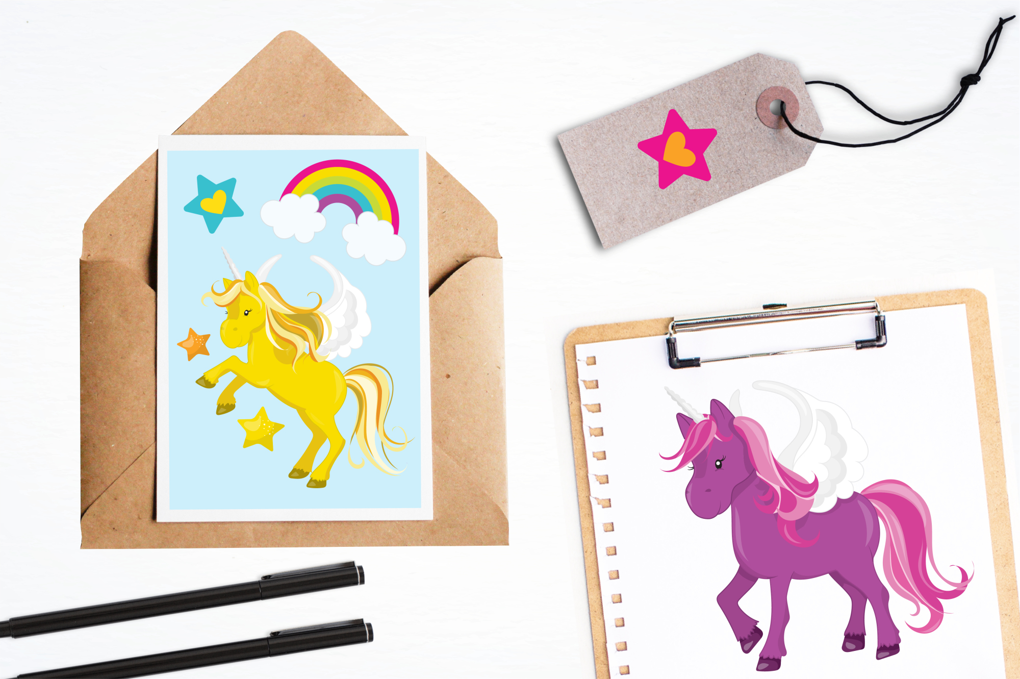 Unicorns and Rainbows graphics and illustrations example image 4