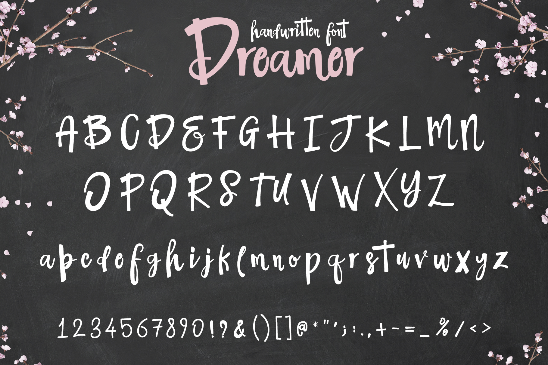 The Dreamer Font example 7